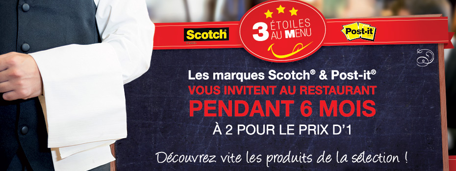 3 étoiles au menu avec Scotch® et Post-it® !