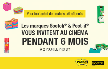 Les marques Scotch® et Post-it® vous invitent au cinéma !