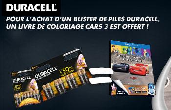 Votre livre de coloriage offert avec Duracell !