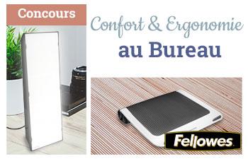 Confort & Ergonomie au Bureau avec Fellowes et Burolike