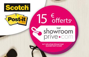 15€ offerts sur Showroomprive.com avec Scotch™ & Post-it®